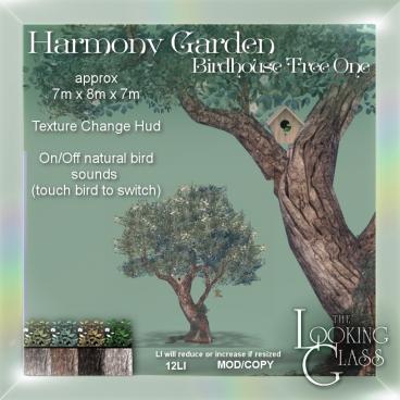 TLG - Harmony Garden Birdhouse Tree One Ad