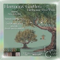 Harmony Garden Birdhouse Tree Two Ad