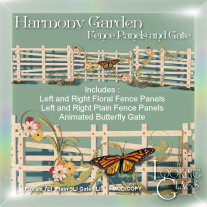Harmony Garden Fence Panels and Gate Ad