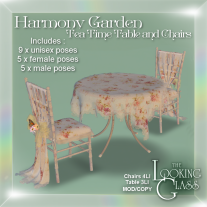Harmony Garden Tea Time Table and Chairs Ad