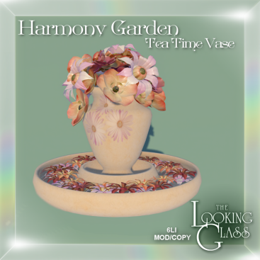 Harmony Garden Tea Time Vase Ad