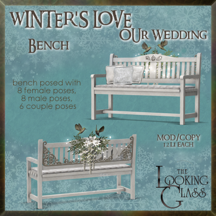 tlg - winter's love wedding bench
