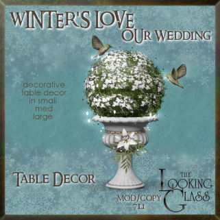 tlg - winter's love wedding table decor