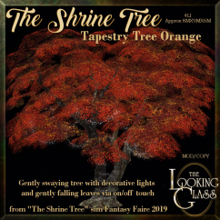 TLG - The Shrine Tree Tapestry Tree Orange AD